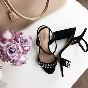 Aldo Jeweled Sandals with Block Heel